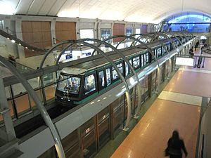 Châtelet (Paris Métro) - Image: Ligne 14 Chatelet 1