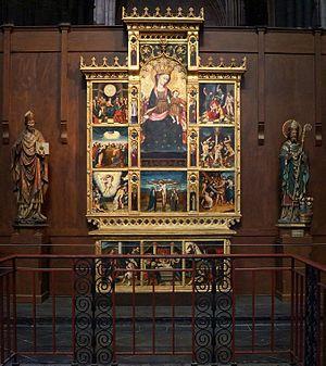 Prédelle et retable de N.D.-du-Rosaire Cathédrale de Notre Dame de la Treille, Lille.- Nord (France)