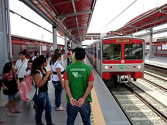 Lima Metro - Train in Villa el Salvador.
