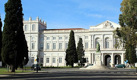 The Palace of Ajuda was built as a residence for the King of Portugal following the 1755 Lisbon Earthquake.