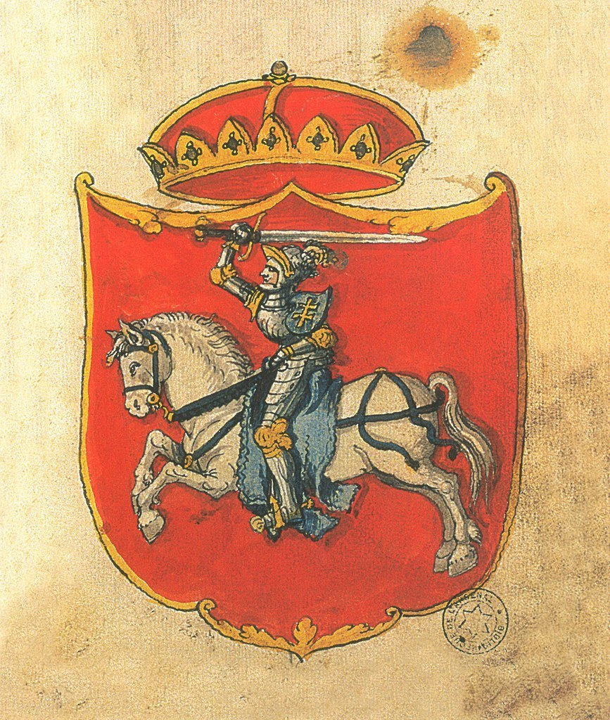 Lithuanian coat of arms Vytis. 16th century
