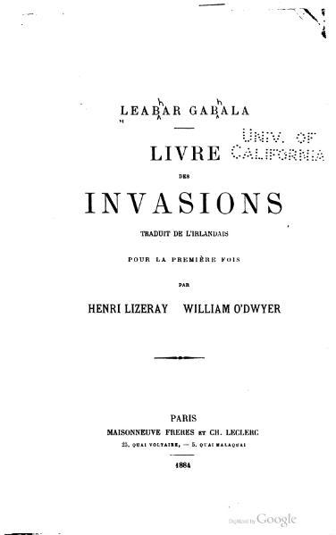 File:Lizeray - Leabar gabala, Livre des invasions de l'Irlande, 1884.djvu