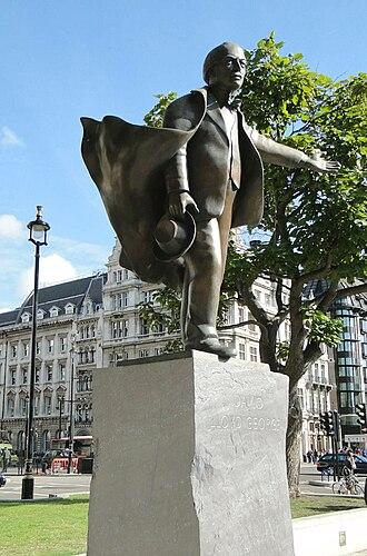 Parliament Square - Image: Lloyd George Statue Parliament Sq