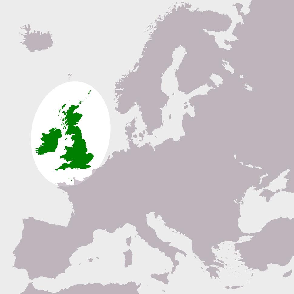 Location of the United Kingdom