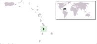 A map showing the location of Saint Lucia