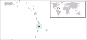 Outline of Saint Lucia - The location of Saint Lucia