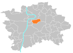 Location map municipal district Prague - Praha 3.PNG
