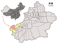 Location of Ulugqat within Xinjiang (China).png
