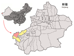 Location in Xinjiang Uyghur Autonomous Region