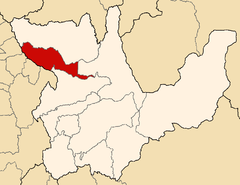Location of the province Huacaybamba in Huánuco.png