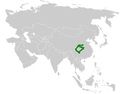 Locustella chengi distribution map.png