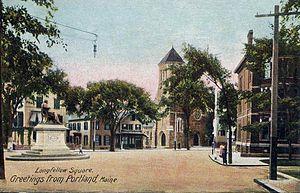 Portland, Maine - Longfellow Square (c. 1906)