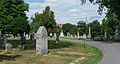 Looking N across sections A and N - Glenwood Cemetery - 2014-09-14.jpg