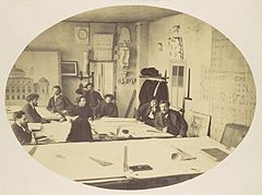 Louis-Emile Durandelle, Charles Garnier in the Drafting Room While Designing the New Paris Opera, ca. 1870.jpg