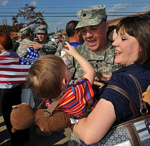 Louisiana National Guard - Louisiana Guardsmen return home after Iraq deployment, November 2009