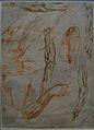 Louvre-Lens - L'Europe de Rubens - 133 - Études anatomiques de bras, mains et jambes.JPG