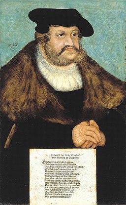 Lucas Cranach d.Ä. - Friedrich III. von Sachsen, genannt der Weise, 1532 (Veste Coburg)