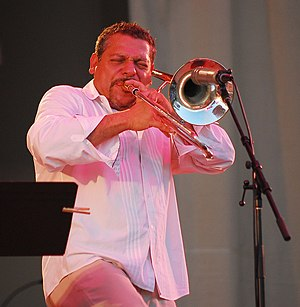 Luis Bonilla - Bonilla Brass Ecstasy at Chicago Jazz Festival 2008 Photo: Mark Mahar