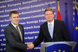 Igor Lukšić - Igor Luksic with Štefan Füle, European Commissioner for Enlargement and European Neighbourhood Policy