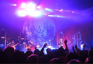 Luna Sea - Luna Sea performing at the Hollywood Palladium in 2010. The concert was recorded and released as the theatrical film and live album, Luna Sea 3D in Los Angeles.