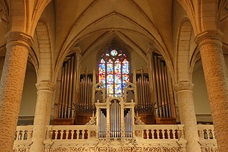 Notre-Dame Cathedral, Luxembourg - Organ Gallery and Stained Glass