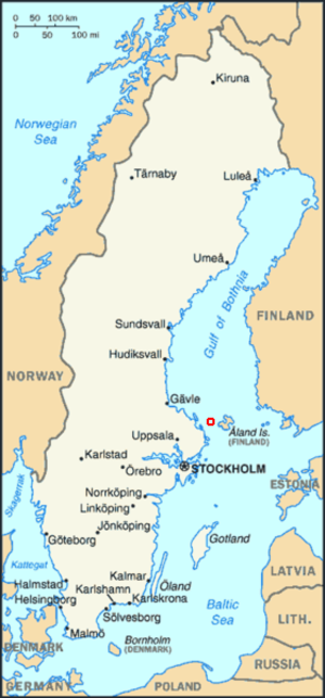 Märket - Location of Märket Island