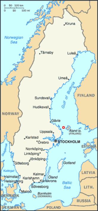 Märket - Location of Märket Island