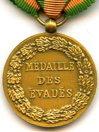 Escapees' Medal - Reverse of the Escapees' Medal