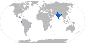 Soltam M-66 - Map with M-66 operators in blue