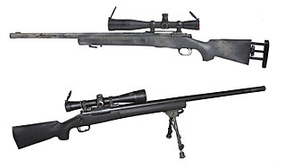 Sniper rifle Type of rifle used for long range engagements against enemy personnel