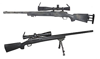 Sniper rifle - The bolt-action 7.62×51mm M24 Sniper Weapon System is capable of 0.5 MOA accuracy to maximal effective range of about 800 meters. The M24 was the United States Army standard-issue sniper rifle.