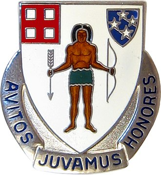 Army National Guard and Active Regular Army Units with Colonial Roots - Distinctive Unit Insignia: 182nd Inf