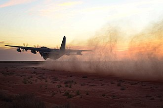 415th Special Operations Squadron - MC-130J Commando II taking off from the Melrose Range, NM