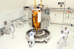 MESSENGER assembly at Astrotech.