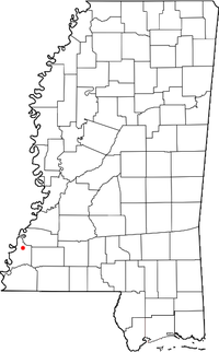 Location of Washington, Mississippi