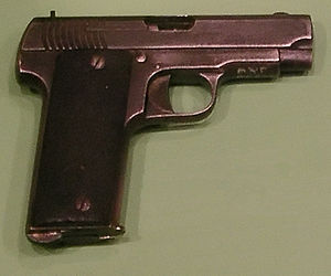 Ruby pistol - Cebra marked Ruby-type pistol manufactured by A. Zulaika, Museum of the Polish Army, Warsaw
