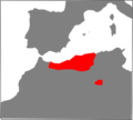 Macroprotodon abubakeri range Map.png