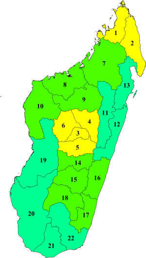 Regions of Madagascar - Regions of Madagascar