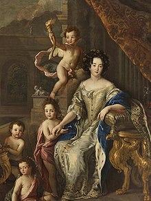 Mme de Montespan et ses enfants.