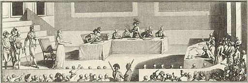 Madame Roland plaidant sa cause devant le Tribunal révolutionnaire