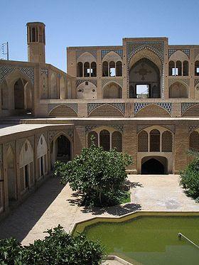 Cour intérieure à Kashan