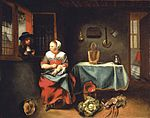 Maes, Nicolaes - Interior of a cottage - 1655.jpg