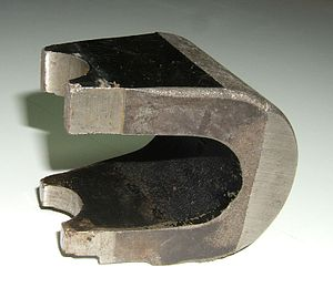 Alnico - Alnico 5 magnet used in a magnetron tube in an early microwave oven. About 3 in (8 cm) long.