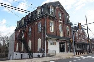 Schwenksville, Pennsylvania - Buildings on Main Street