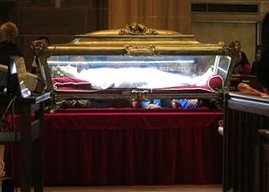 Maria Goretti - Maria's major relics on display at St. Joseph Cathedral (Columbus, Ohio)