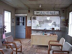Sheboygan and Fond du Lac Railroad - Image: Malone Area Heritage Museum Display 3Depot