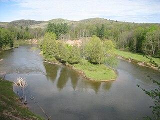 Manistee River river in Northwest lower Michigan