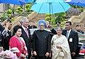 Manmohan Singh and his wife Smt. Gursharan Kaur with the Malaysian Prime Minister Dato' Sri Mohd Najib Bin Tun Abdul Razak and his wife Datin Paduka Seri Rosmah Mansoron, at Putrajaya, the Prime Minister Office, in Malaysia.jpg