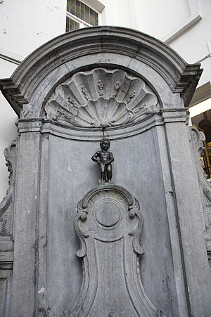 Manneken Pis - Manneken Pis in its niche, fitted in 1770.