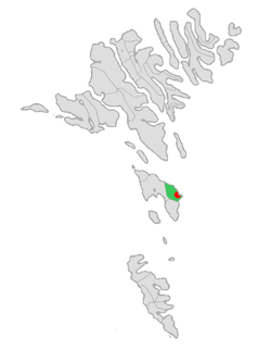 Location of Skálavíkar kommuna in the Faroe Islands